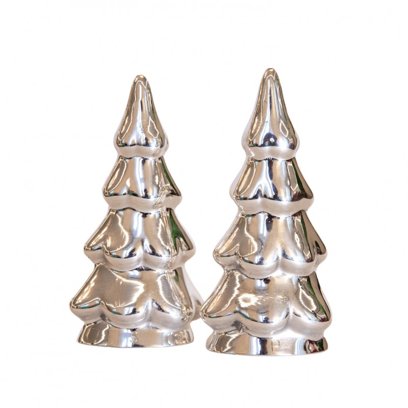 Salt and Pepper Shakers Silver