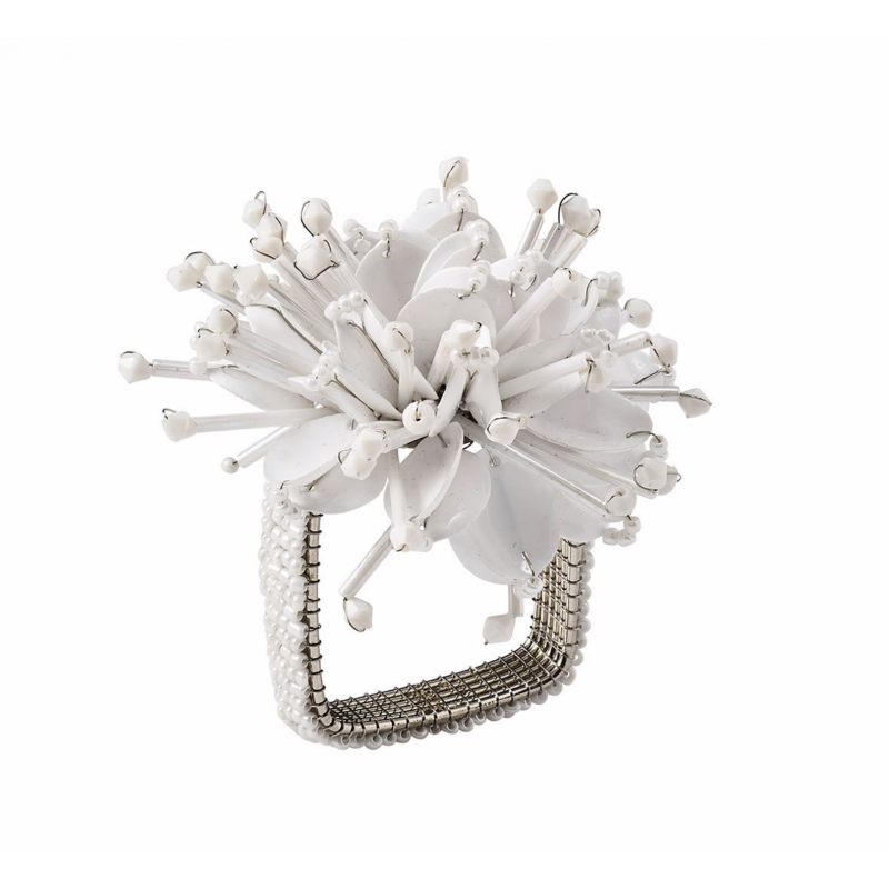 Starburst Napkin Ring White