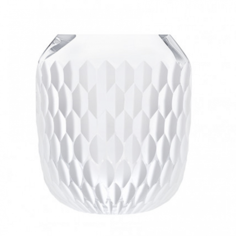 Folia Clear Satin-Finish Crystal Small Vase