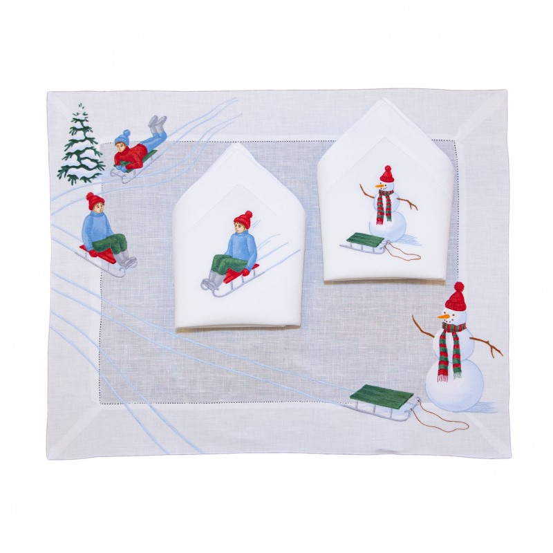 Placemat and Napkin Sled