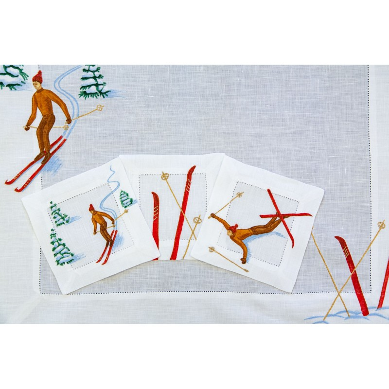 Placemat and Coaster Skier