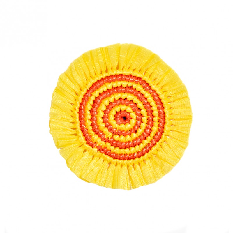 Plastic Twine Coaster Canary Yellow and Orange