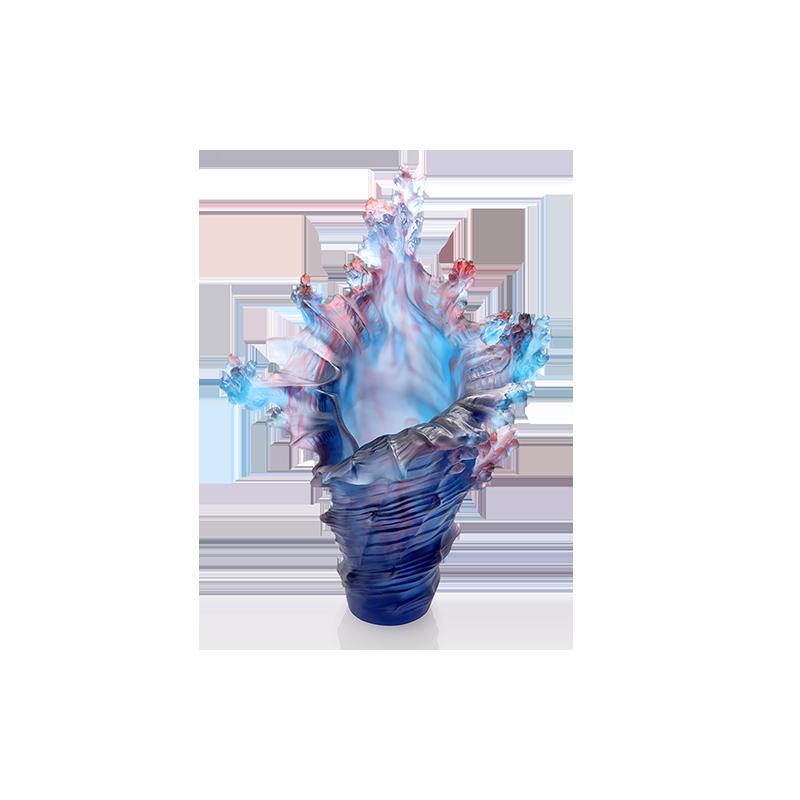 Mer de Corail Large Vase Blue Numbered Edition