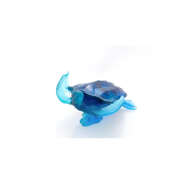 Mer de Corail Tortue Grand Modèle Bleu Edition Numérotée