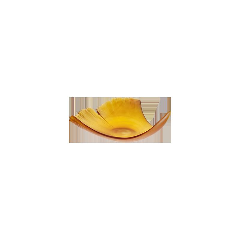 Ginkgo Large Amber Leaf Numbered Edition
