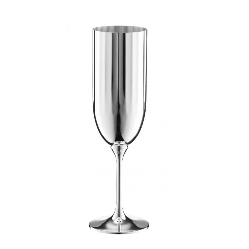 Belvedere Flûte à Champagne en Métal Argenté