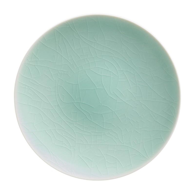 Craquelé Bleu Lagon Charger Plate Agora