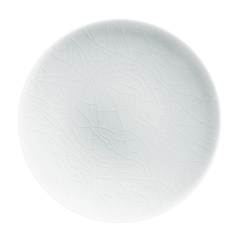 Craquelé Iceberg Charger Plate Agora