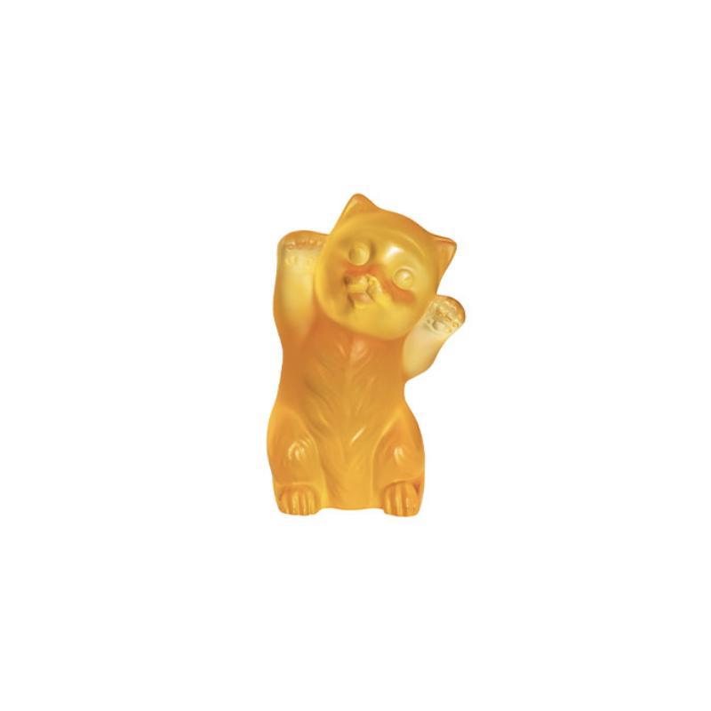 Kitten Sculpture Amber
