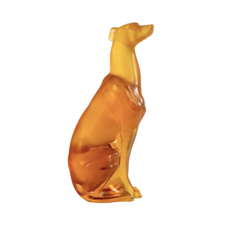 Greyhound Sculpture Amber