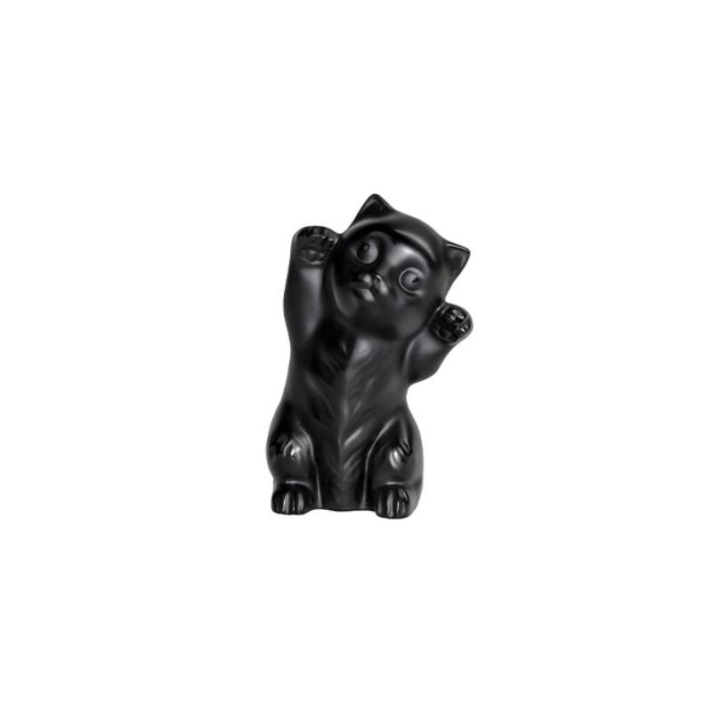 Kitten Sculpture Black
