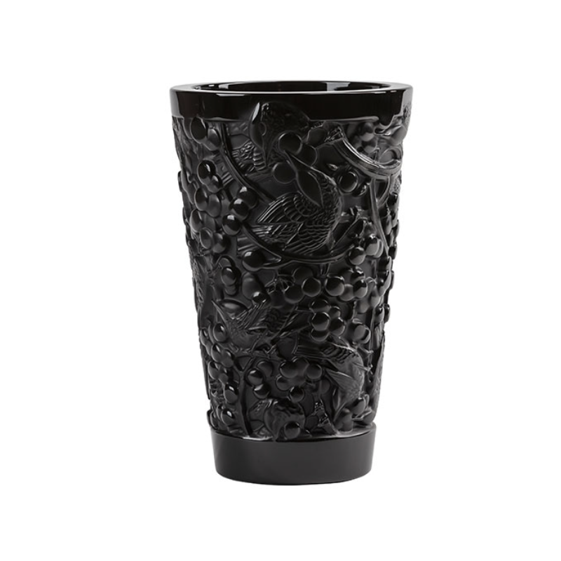 Merles et Raisins Vase Medium Size Black