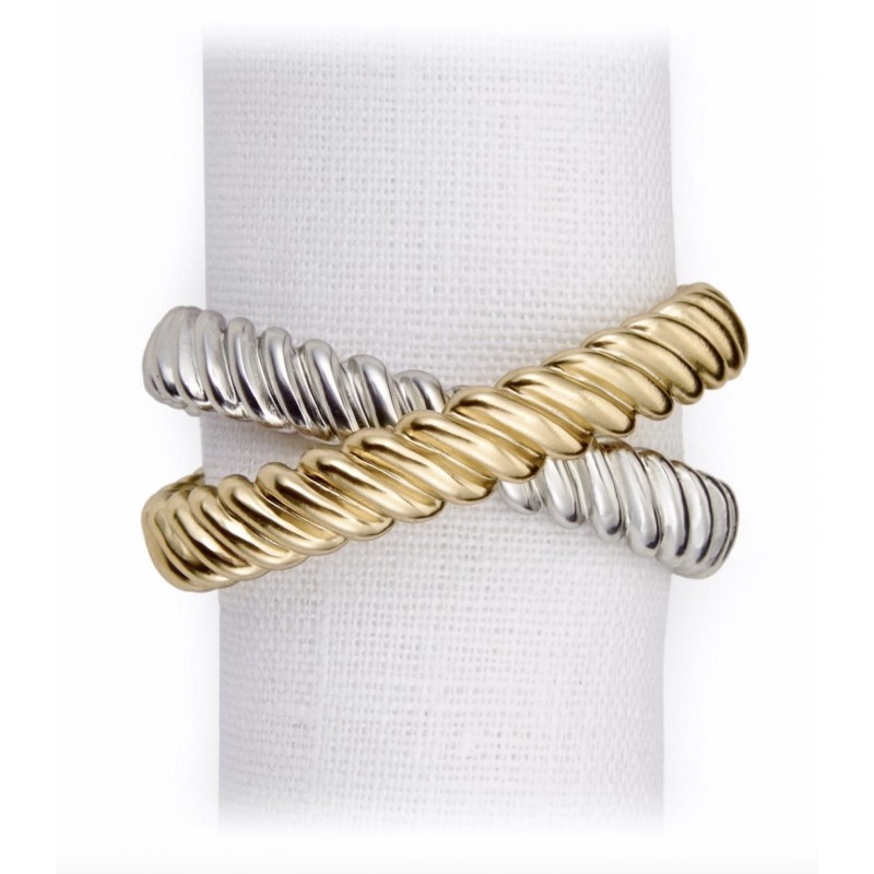 Deco Twist Napkin Jewels - Set of 4