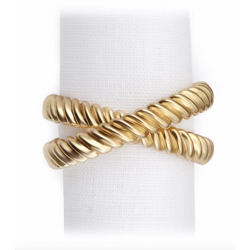 Deco Twist Napkin Ring Jewels - Set of 4