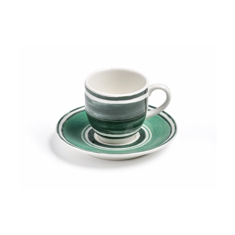 Maze Espresso Cup with Saucer Green