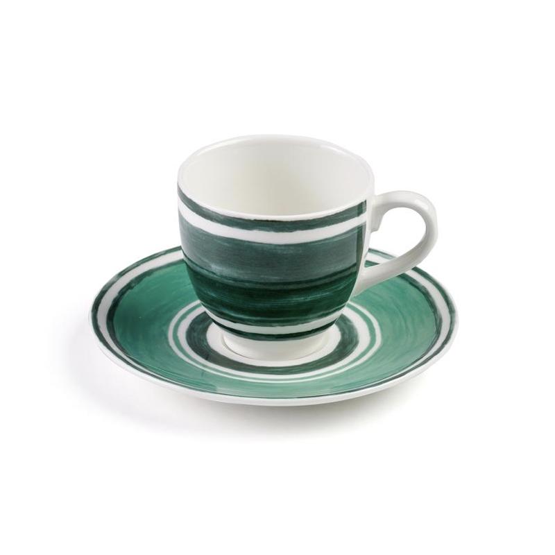 Maze Tasse à Café ou Thé avec Soucoupe