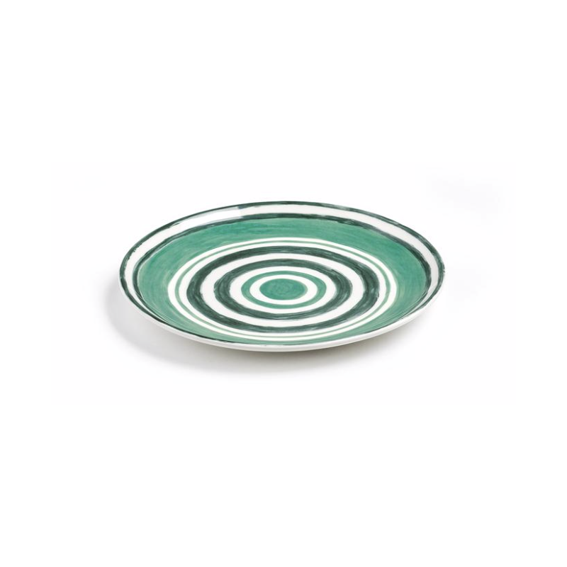Maze Dessert Plate Green