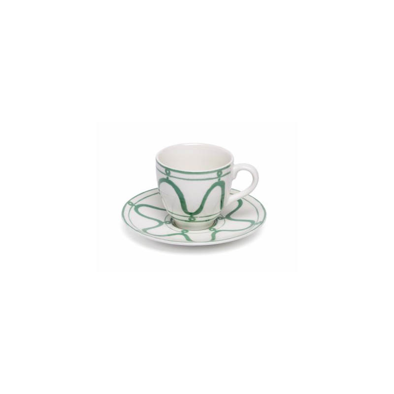 Serenity Espresso Cup with Saucer Green