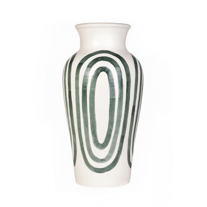 The Kyklos Pottery Vase Green - Limited Production