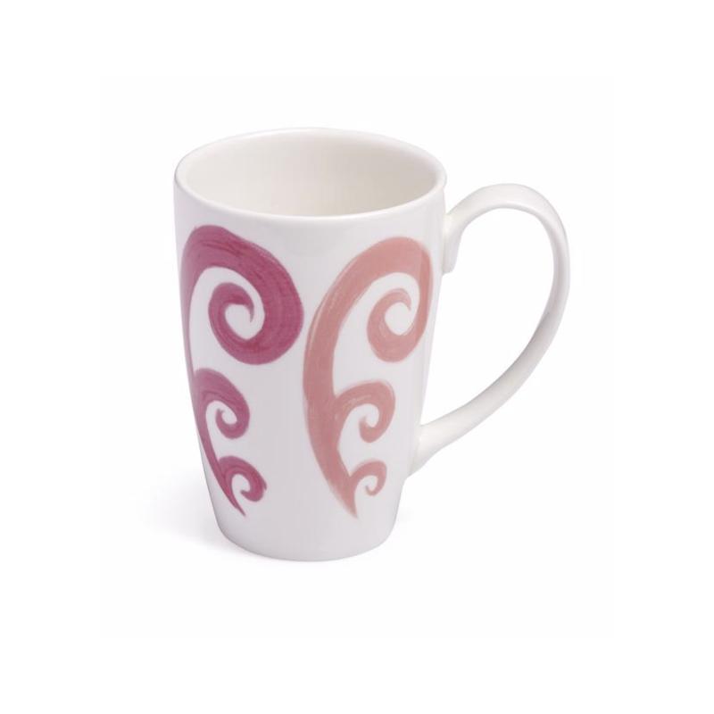 Athenee Peacock Mug Pink