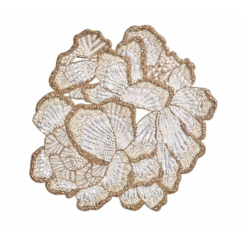 Botanica Placemat White/Gold/Silver