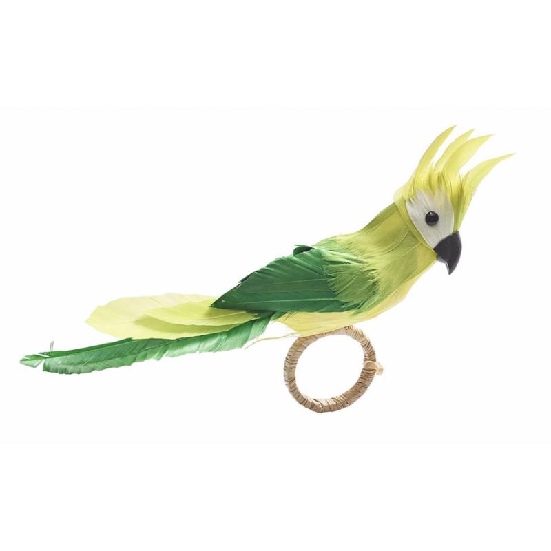 Parakeet Napkin Ring Green
