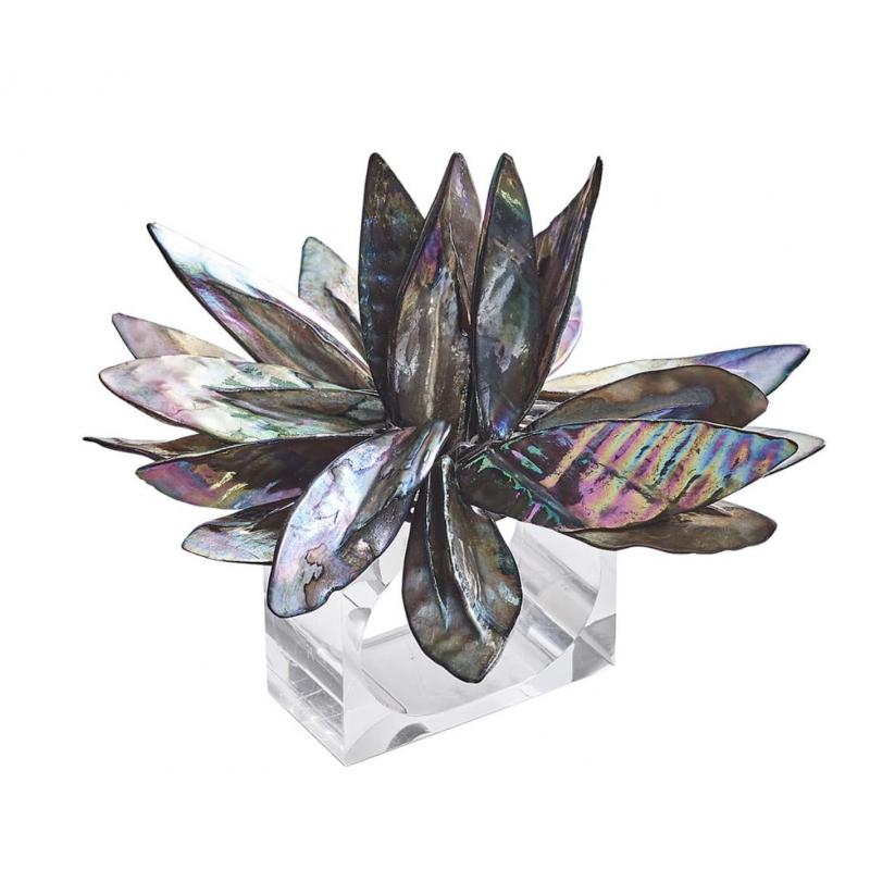 Rond de Serviette Fleur de Coquillage Multicolore