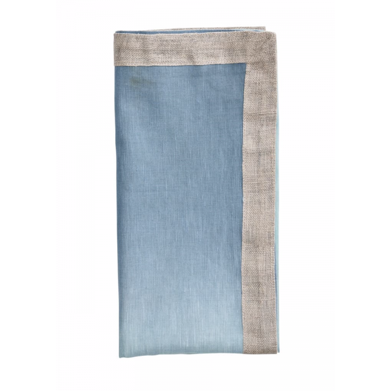Serviette de Table Dip Dye Bleu Ciel/Bleu