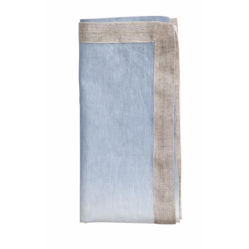 Napkin Dip Dye White/Perinwinkle