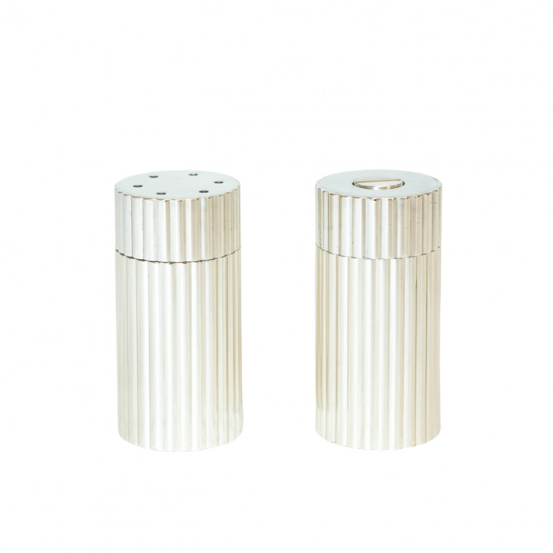 Salt and Pepper Set Brass Plated