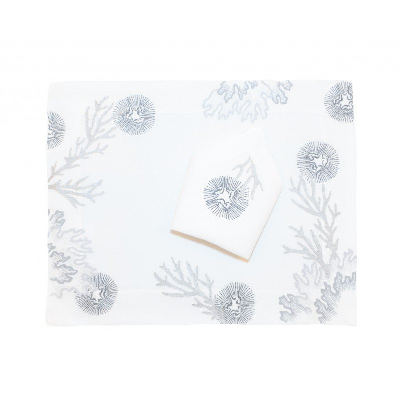 Placemat and Napkin Cap York Silver/Gold