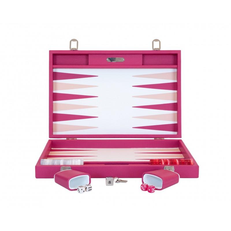 Buffalo Backgammon Large Pink and Fuchsia