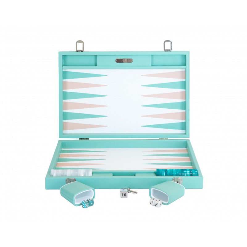 Buffalo Backgammon Medium Emerald and Light Pink