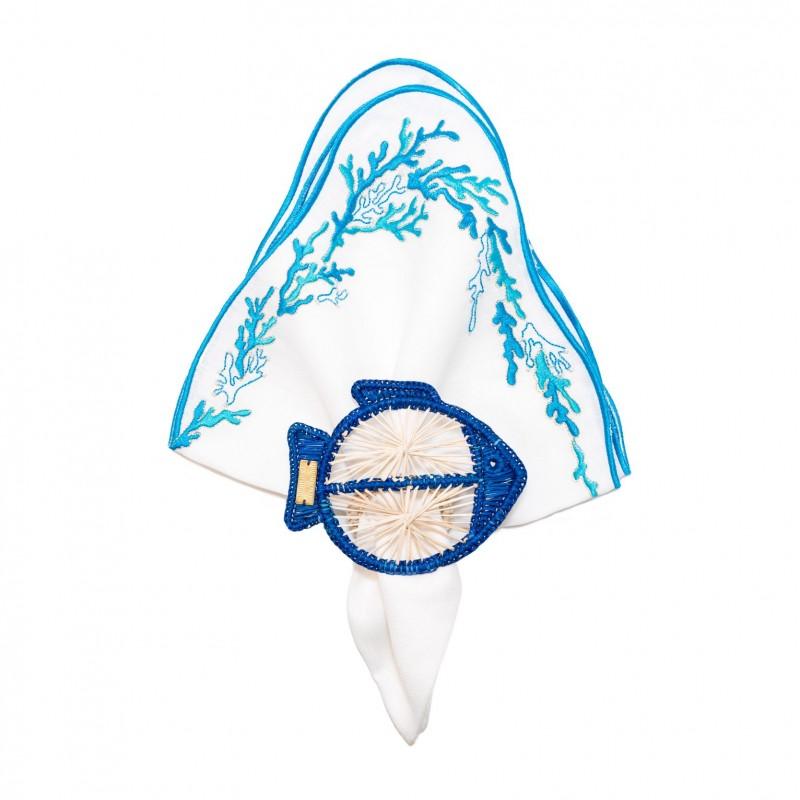 Fish Napkin Ring Blue
