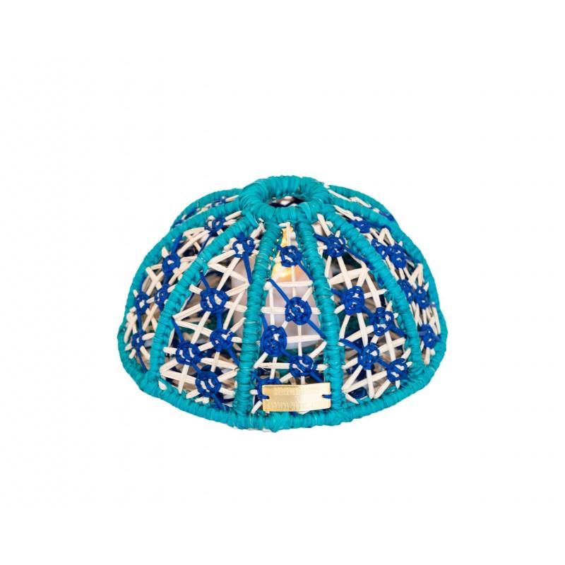 Sea Urchin Lamp Turquoise Small