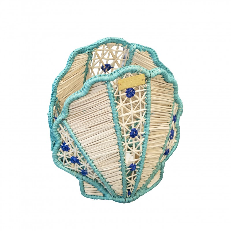 Lampe Coquillage Turquoise