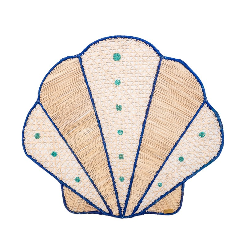 Placemat See Shell Blue
