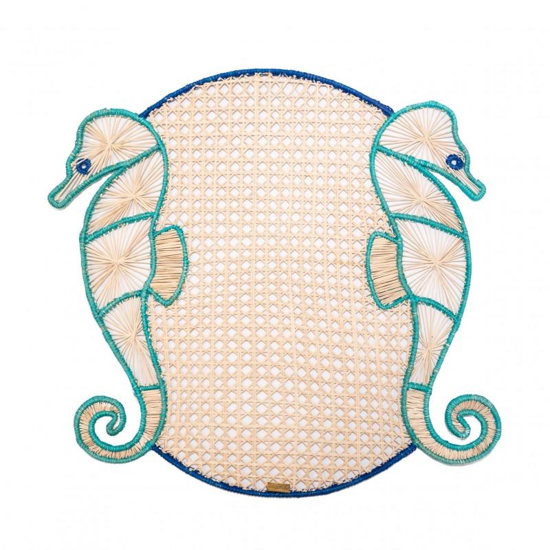 Set de Table Hippocampe Turquoise