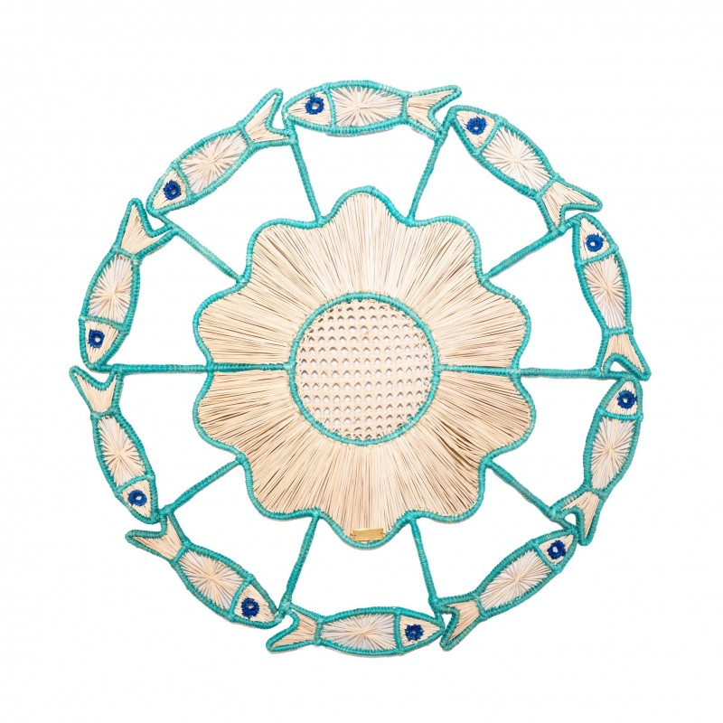 Placemat Fish Turquoise