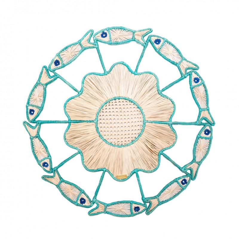 Set de Table Poisson Turquoise