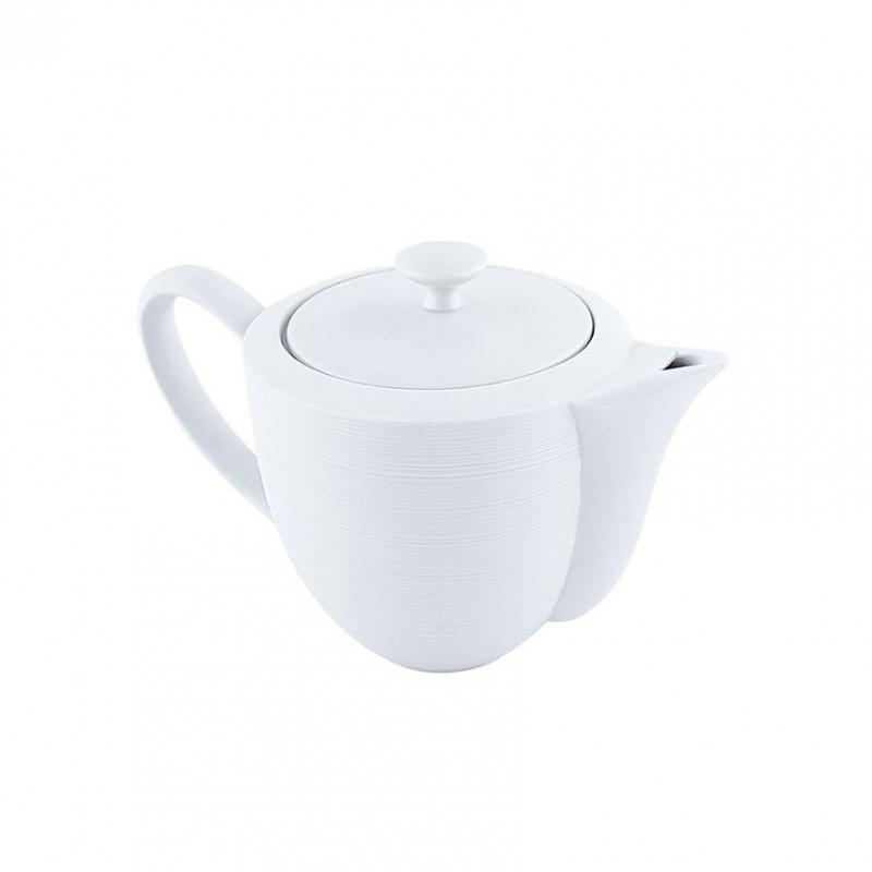 Hemisphere White Satin Coffee Pot Small