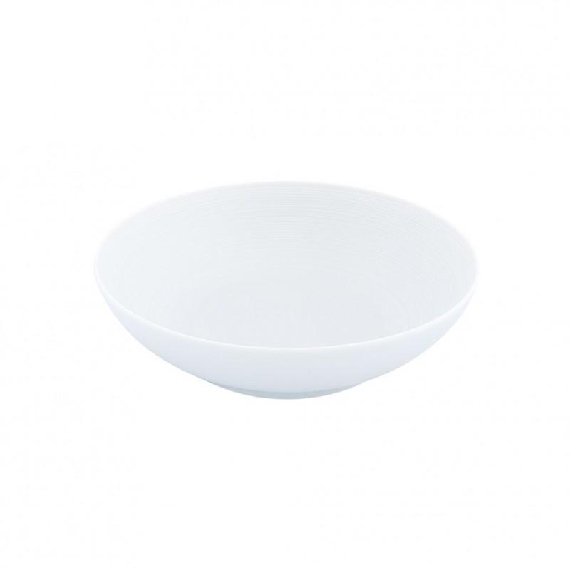 Hemisphere White Satin Salad Bowl Small