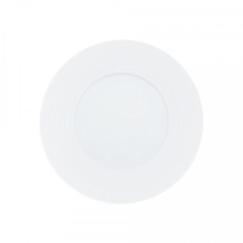 Hemisphere White Satin 15 Asian Plate