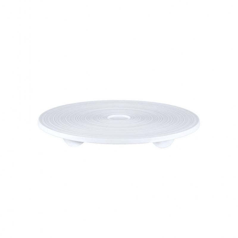 Hemisphere White Satin Round Sushi Tray