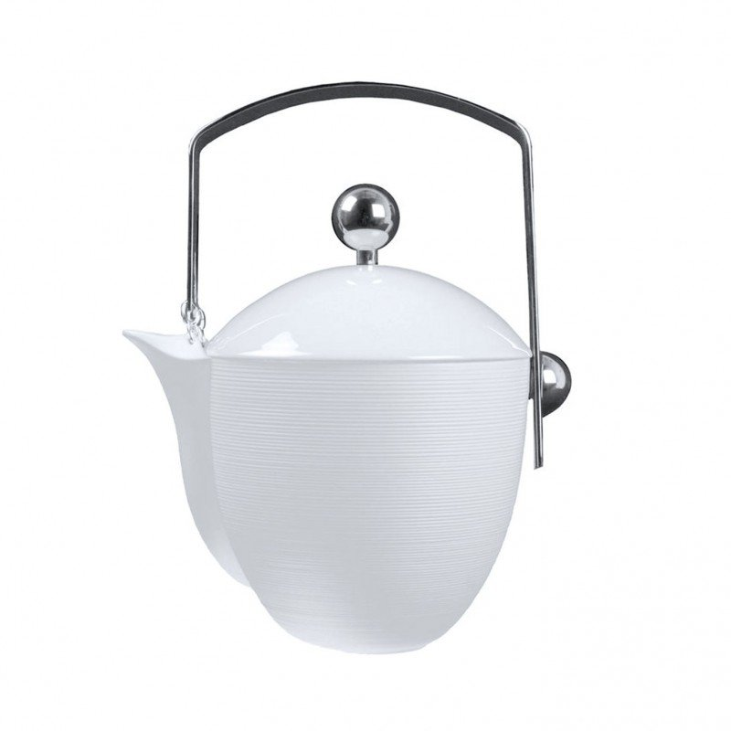 Hemisphere White Satin Coffee Pot (Steel)