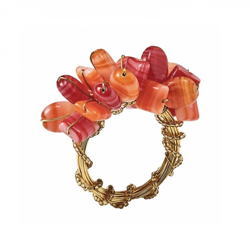 Poppy Napkin Ring Coral