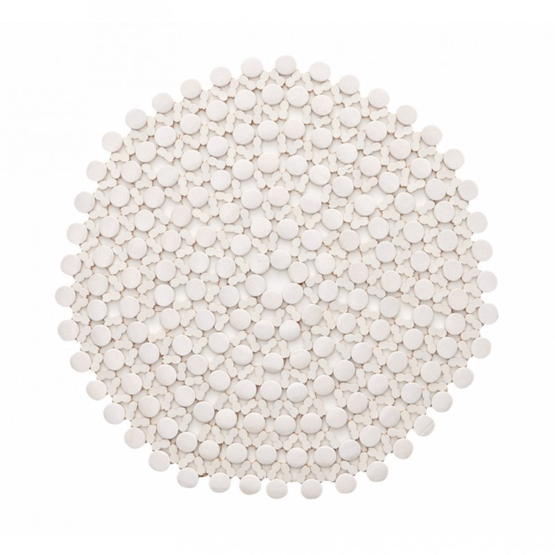 Round Bamboo Placemat White
