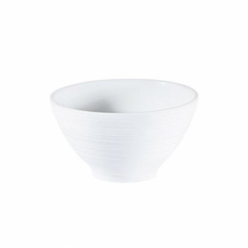 Hemisphere White Satin Sake Bowl