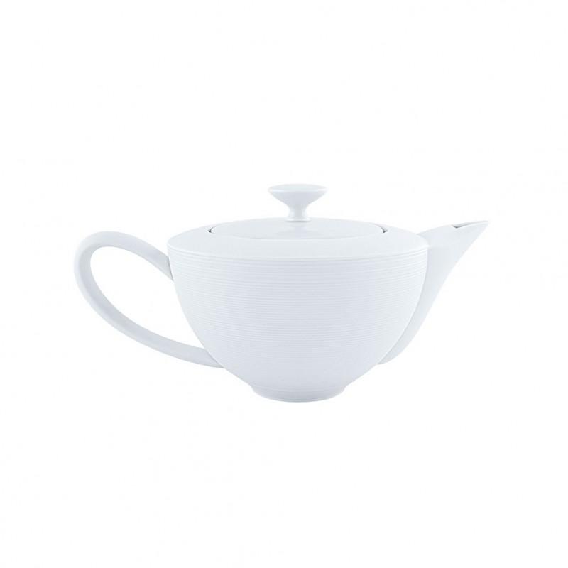 Hemisphere White Satin Tea Pot Small