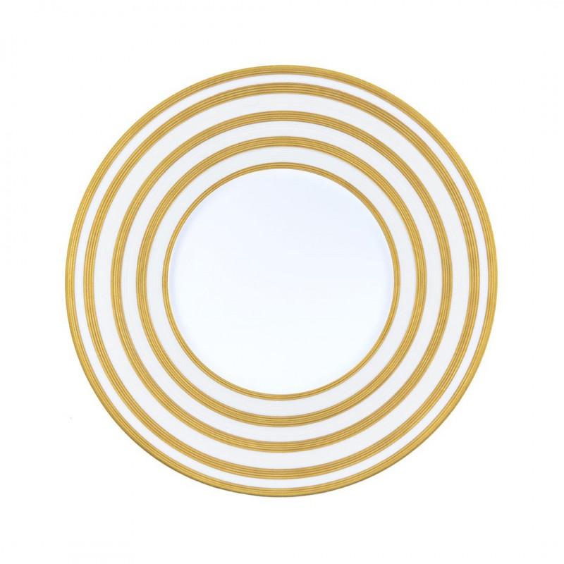 Hemisphere Gold Stripes Dinner Plate
